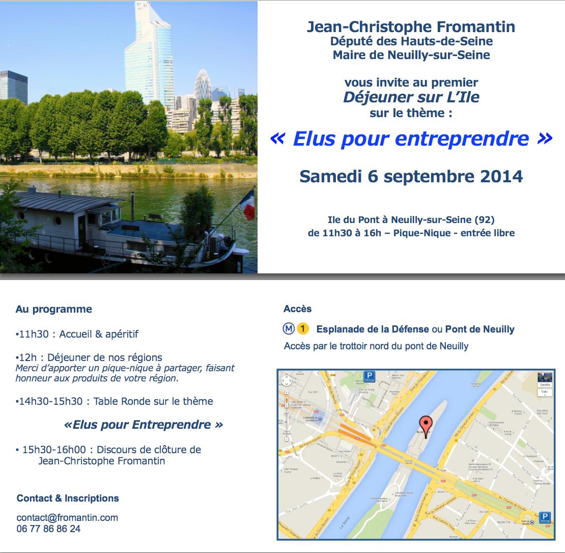 Elus pour entreprendre jean christophe fromantin - Table des oliviers neuilly ...