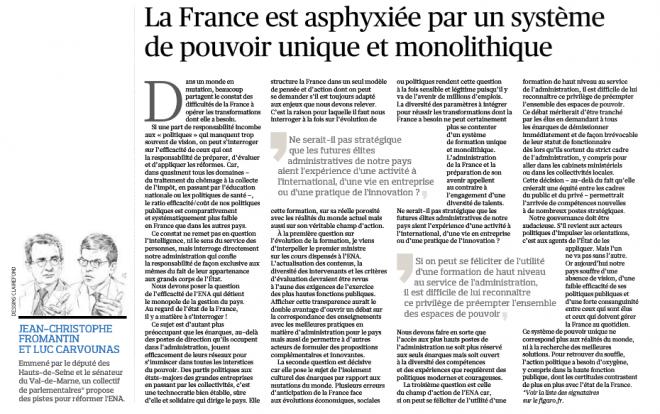 16.04.04_LE FIGARO_Tribune ENA