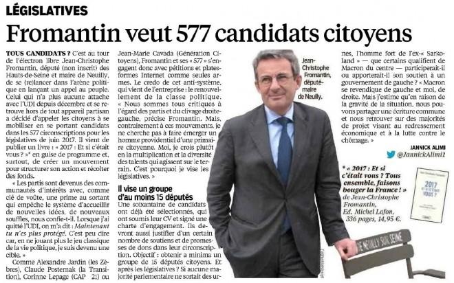 16.05.24_Le Parisien_Fromantin veut 577 candidats citoyens